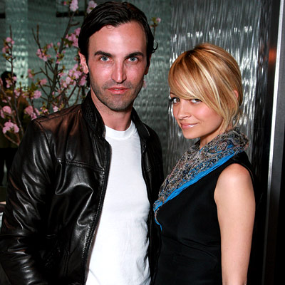 Nicole Richie and Fashion Designer for Balenciaga, Nicolas Ghesquiere design