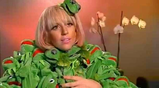 lady gaga outfits kermit. Lady Gaga Kermit Dress