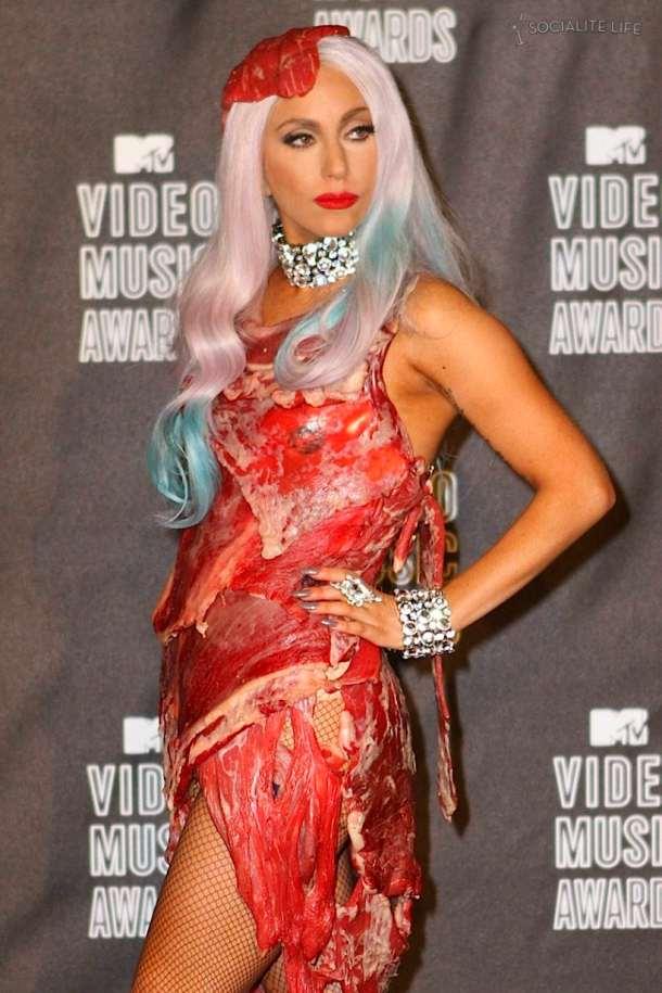 Lady Gaga Fashion Vma. Lady Gaga Meat Dress