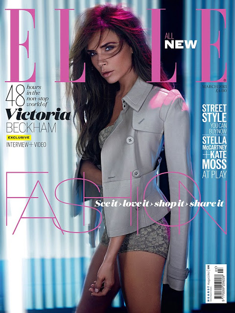 Victoria Beckham for ELLE UK March 2013-cover