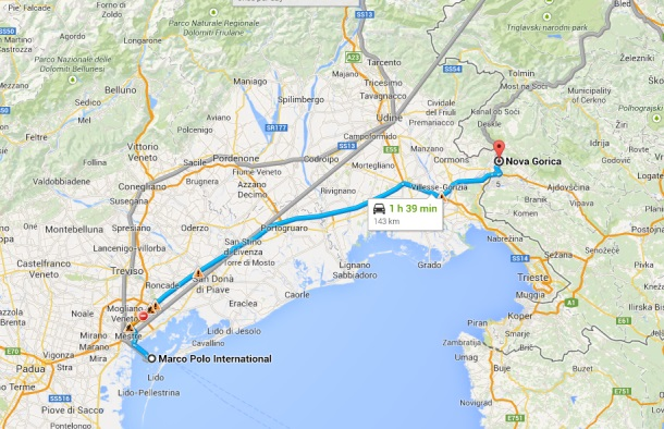 drive from venice to slovenia